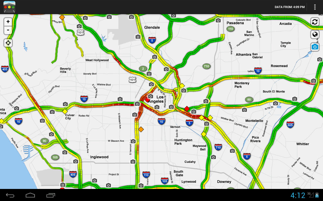 los angeles sigalert traffic map | map of us western states
