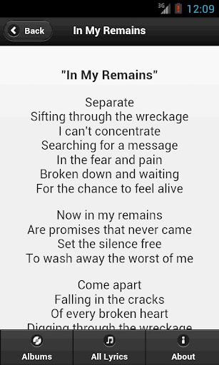 Download Handy Lyrics - Linkin Park Google Play softwares