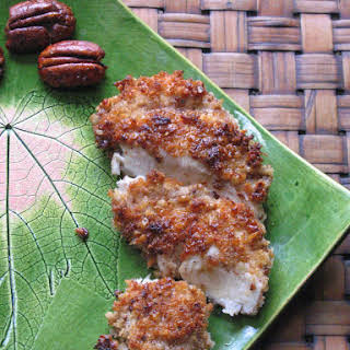 Mustard Pecan Crusted Chicken with Maple Glaze.