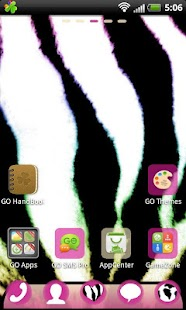 GO Launcher EX Pink Zebra - screenshot thumbnail