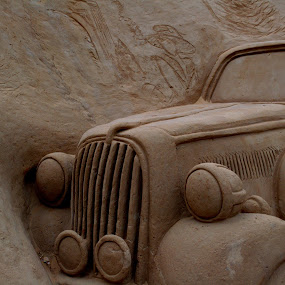 Antique Car by Vijayanand Kandasamy - Artistic Objects Other Objects ( sand, sculpture, sand sculpture, art, artistic object,  )
