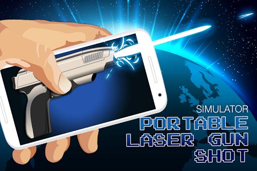 Portable laser gun shot