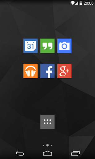 Flat UI icons Nova Apex ADW