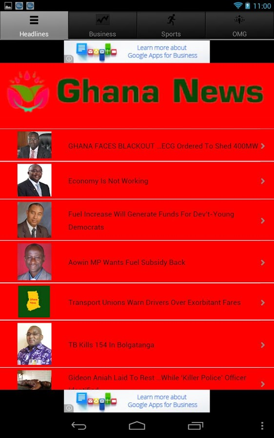 Ghana News - screenshot