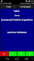 Screenshot of Spanish Verb Trainer Pro