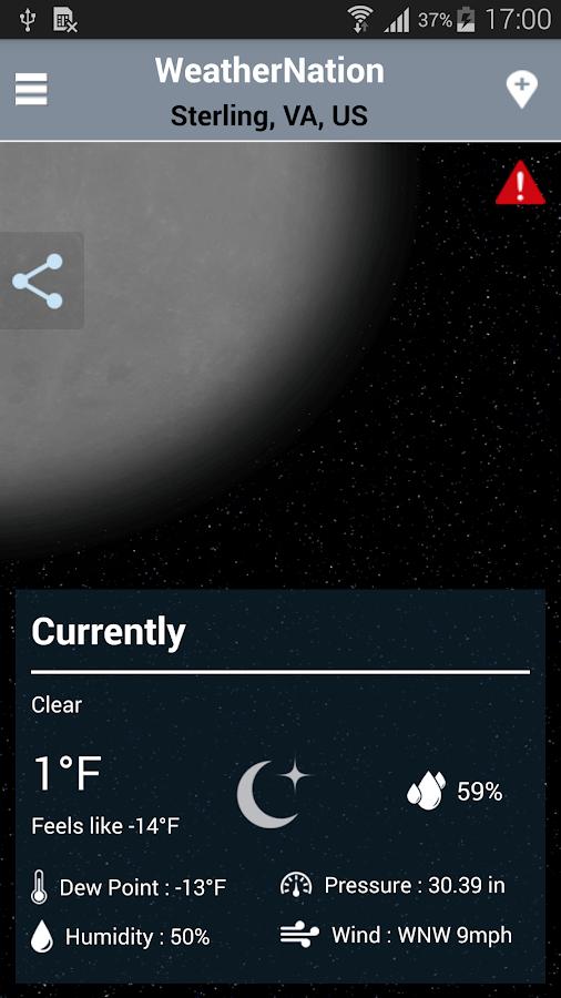 WeatherNation - screenshot