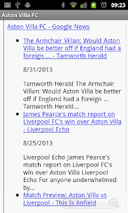 Aston Villa FC News - screenshot thumbnail