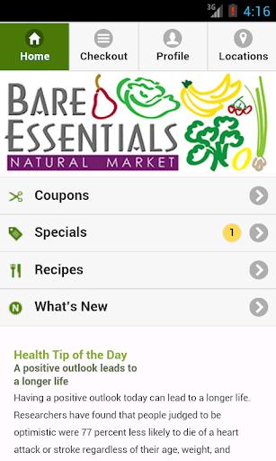 【免費健康App】Bare Essentials Natural Market-APP點子