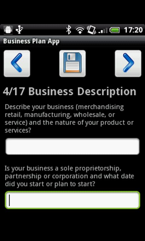 Business Plan App - screenshot