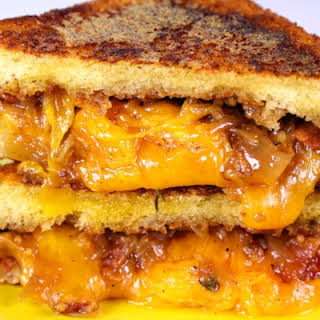 Grilled Cheese with Bacon-Onion Jam.