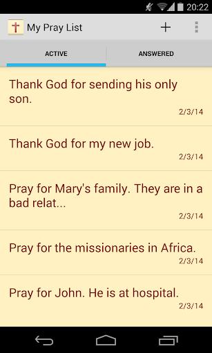 My Pray List