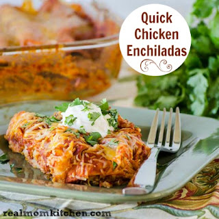 Quick Chicken Enchiladas.