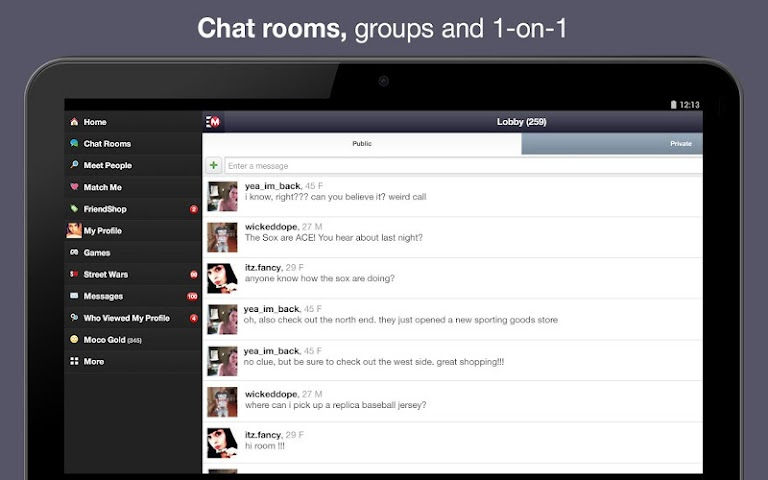 android Moco - Chat,  Meet People Screenshot 1