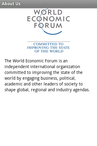 World Economic Forum - screenshot