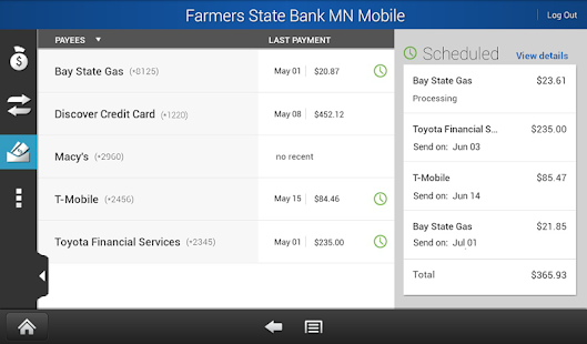 Farmers State Bank MN Mobile - screenshot thumbnail