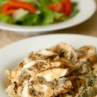 French-Style Stuffed Chicken Breasts.