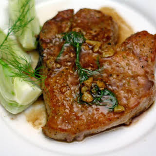 Mario Batali's Pork Chops with Fennel Seed and White Wine.