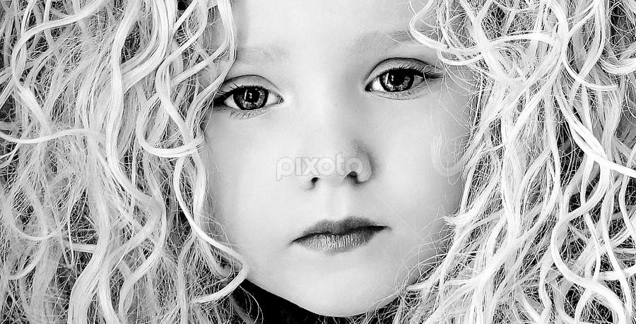 The Hair B&W by Cheryl Korotky - Black & White Portraits & People