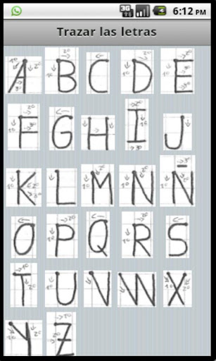 Trazar las letras