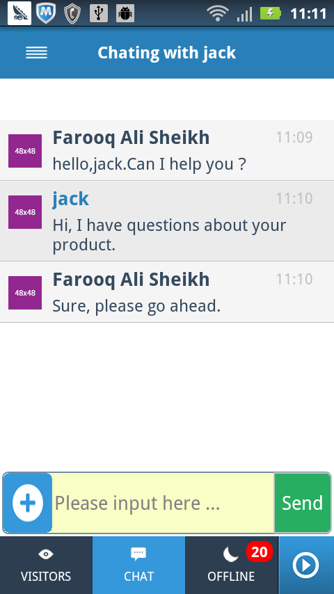 Banckle Chat - screenshot