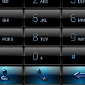 Dialer Black Blue Gloss Theme icon