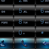 exDialer Black Blue Gloss Skin