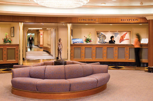 Silversea_reception_lobby_2 - Head to Silversea's reception lobby if you have a question or need assistance 24/7.