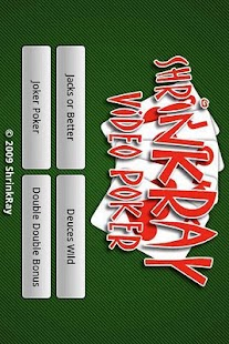 ShrinkRay Video Poker Lite - screenshot thumbnail