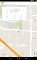 Screenshot of Android Device Manager
