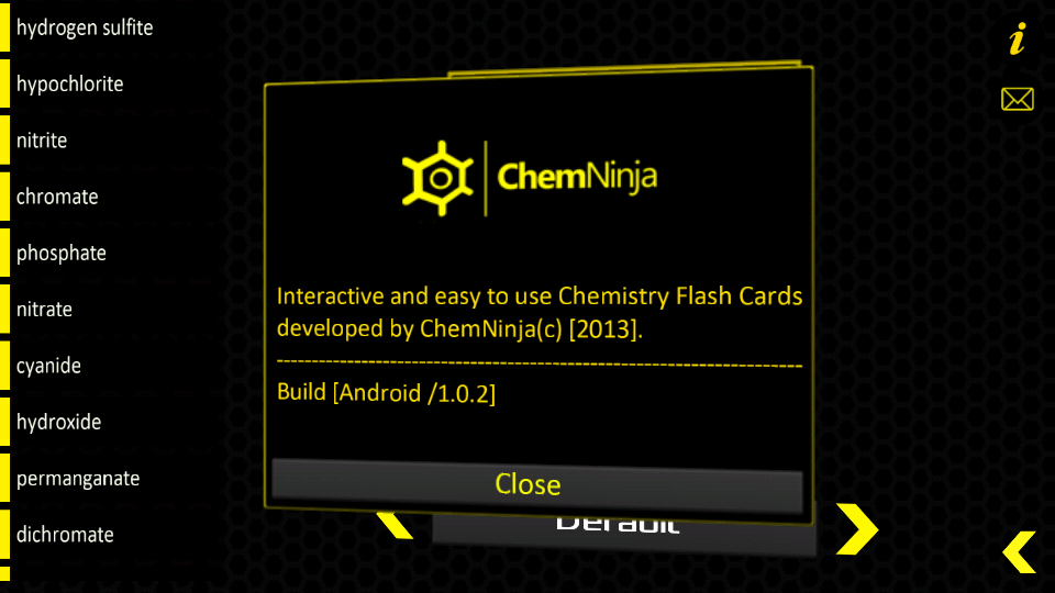 Chemistry Flash Cards- screenshot
