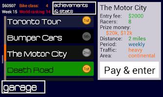 Screenshot of Moto Racing: World Domination