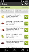Screenshot of AmazonFresh