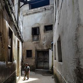 Street in Zanzibar by Shelina Khimji - City,  Street & Park  Street Scenes (  )