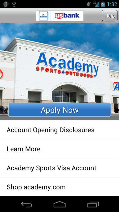 Academy Sports + Outdoors Visa - screenshot