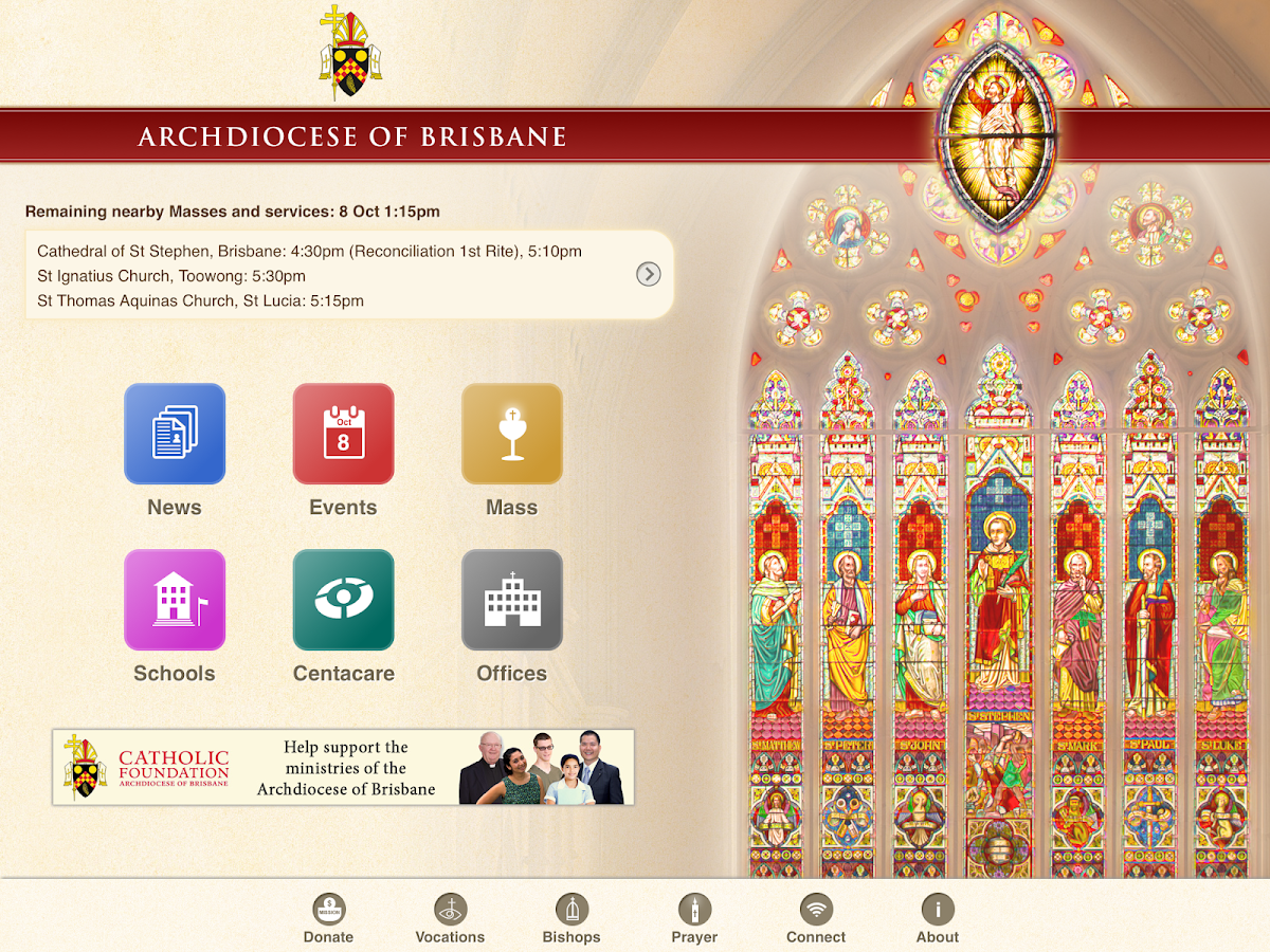 Archdiocese of Brisbane- screenshot