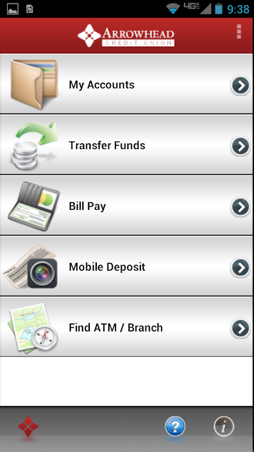 Arrowhead Credit Union- screenshot