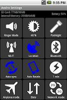 Screenshot of Andro Settings