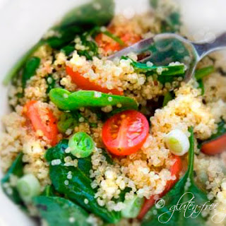 Quinoa Salad with Baby Spinach and Grape Tomatoes