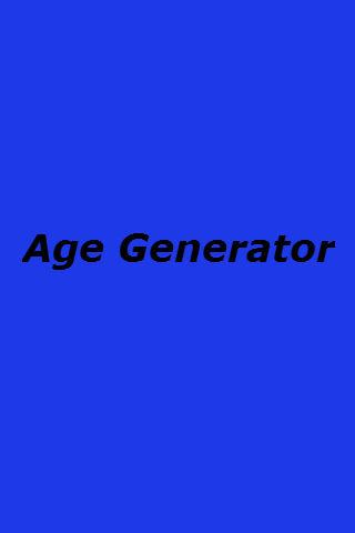 Age Generator