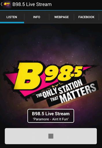 B98.5 Live Stream