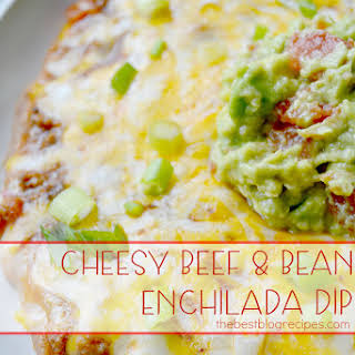 Cheesy Beef & Bean Enchilada Dip.