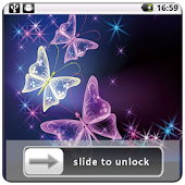 3D Butterfly Theme Lock Screen