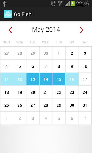 Go Fish - A Fishing Calendar
