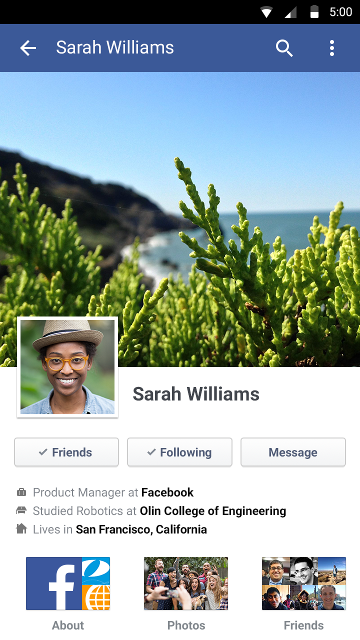 Facebook screenshot #3