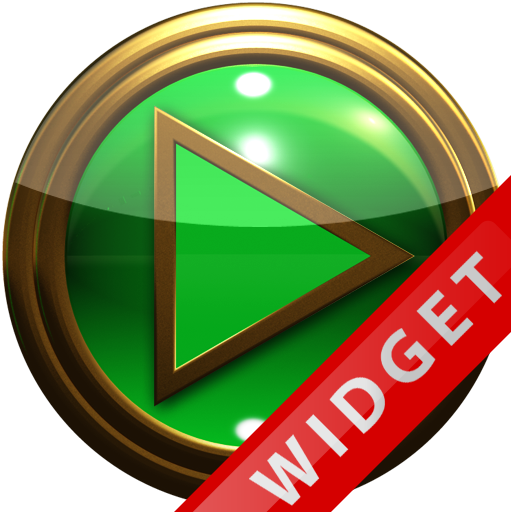 Poweramp Widget Green Gold