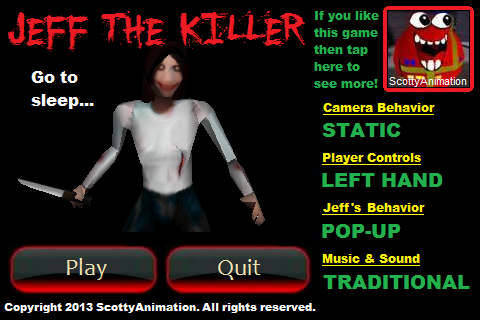 Slender Man: Jeff The Killer- screenshot