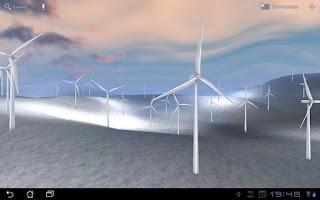 Screenshot of Wind Turbines 3D