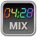 Rainbow Clock Widget (MIX)