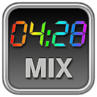 Rainbow Clock Widget (MIX) icon