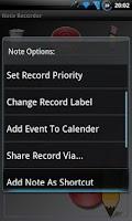 Screenshot of Note Recorder